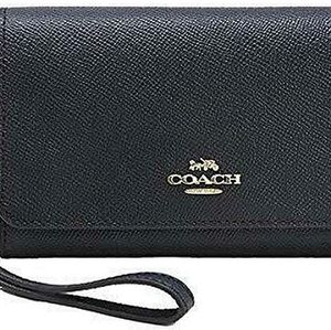 Coach Flap Phone Wallet In Signature Canvas